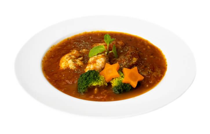 トマトスープ(パン・サラダ・お通し付)